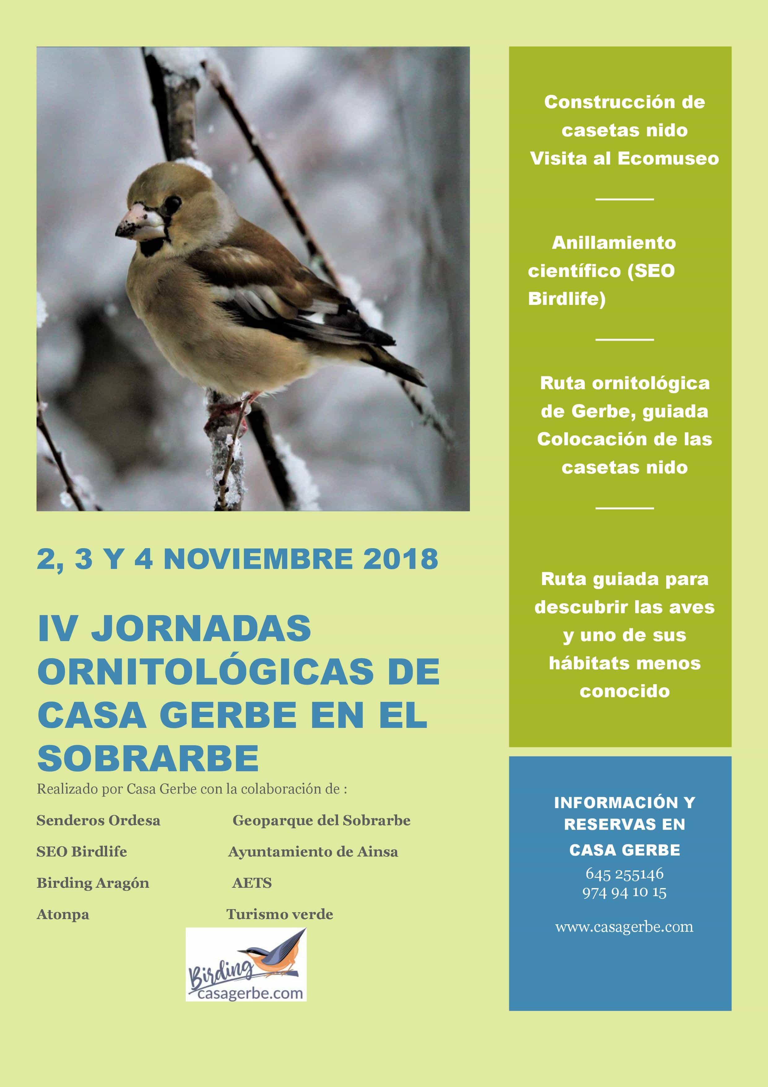 IV Jornadas ornitológicas de Casa Gerbe en el Sobrarbe